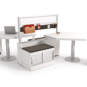 Shared Workspace with Privacy Screen