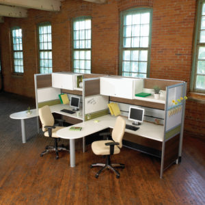 Nano Workstations with Shared Meeting Surfaces